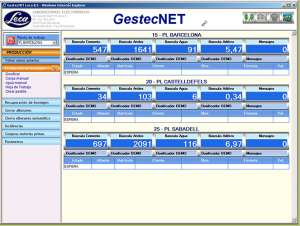 Programa gestion de planta gestecNET LECA